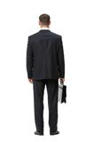 Full-length backview of businessman with case Royalty Free Stock Images