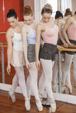 Full Length Of Ballet Dancers Performing Pointe Royalty Free Stock Image