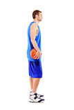A full length of a basketball player stock image