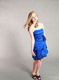Full length of beautiful blond young woman Royalty Free Stock Photo