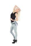 Full length of a beautiful casual blond posing Stock Image