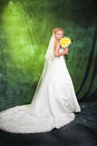 Full length of a beautiful woman in wedding dress Stock Photo