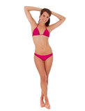 Full length bikini girl Royalty Free Stock Photo