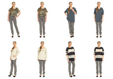 Full length body image of  young crummy woman isolated Stock Image