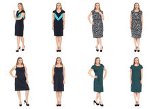 Full length body image of  young crummy woman isolated Royalty Free Stock Image
