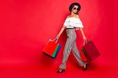 Free Full Length Body Size Portrait Of Trendy Stylish Elegant Chic La Royalty Free Stock Photos - 143054468