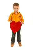 Full length of boy holding heart Stock Image