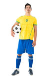 Full length of Brazilian football player Royalty Free Stock Image