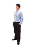 Full length business man with confident smile Royalty Free Stock Image