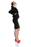 Full length of business woman with backache Stock Photography