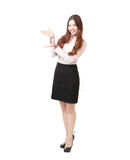 Full length of business woman giving presentation Stock Photo