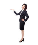 Full length Business woman introducing Royalty Free Stock Images