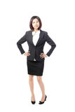 Full length Business woman smile standing Royalty Free Stock Images