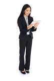 Full length business woman smiling Royalty Free Stock Photo