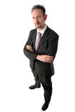Full Length Businessman with Arms Crossed Royalty Free Stock Images