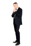 Full length businessman with clenched hands Royalty Free Stock Photography