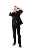 Full length businessman gesturing frame Royalty Free Stock Photo