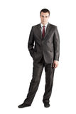 Full length businessman with hand in pocket Royalty Free Stock Photography