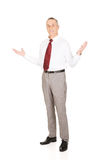 Full length businessman with hands open Stock Images