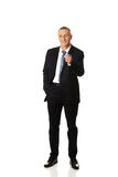 Full length businessman pointing on you Royalty Free Stock Image