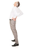 Full length businessman suffering from back pain Royalty Free Stock Photography