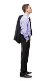 Full length of a businessman waiting in line Royalty Free Stock Photos