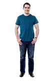 Full length of casual man posing Royalty Free Stock Photo