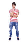 Full length casual trendy man Royalty Free Stock Photos