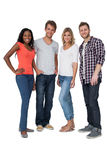 Full length of casually dressed young people Stock Image