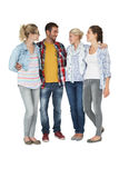 Full length of casually dressed young people Royalty Free Stock Image