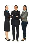 Full length of cheerful business people Royalty Free Stock Image