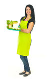 Full length of cheesemaker holding cheese Stock Photography
