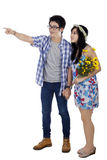 Full length of chinese couple in studio Stock Photos