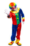 Full length clown saying hello Stock Image