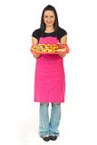 Full length of confectioner woman Royalty Free Stock Images