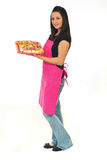 Full length of confectioner woman Royalty Free Stock Photo