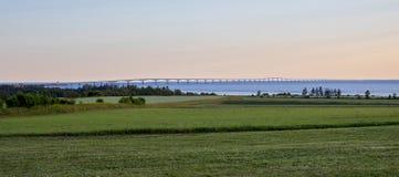 Full Length Confederation Bridge Royalty Free Stock Image
