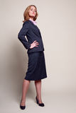 Full-length confident businesswoman Royalty Free Stock Image