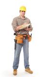 Full length construction worker Royalty Free Stock Photo