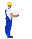 Full length construction worker Royalty Free Stock Image