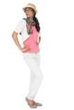 Full length of a cool young woman posing Royalty Free Stock Photos