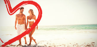 full length of couple at beach Royalty Free Stock Photos