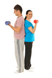 Full length of couple workout Royalty Free Stock Photos