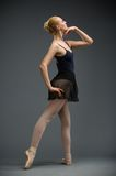 Full-length of dancing ballerina Royalty Free Stock Photo
