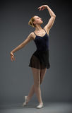 Full length of dancing ballet dancer Stock Images