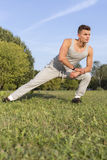 Full length of determined man exercising in park Royalty Free Stock Photo