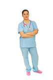 Full length of doctor woman Stock Photography