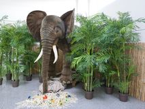 Full length elephant statue decoration royalty free stock images