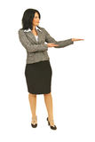 Full length of executive making presentation Stock Photo