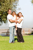 Full length family lifestyle portrait. Portrait of a cute family lifestyle in a full size picture Royalty Free Stock Photos